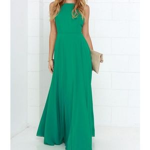 Lulu's Mythical Kind of Love Green Maxi Dress